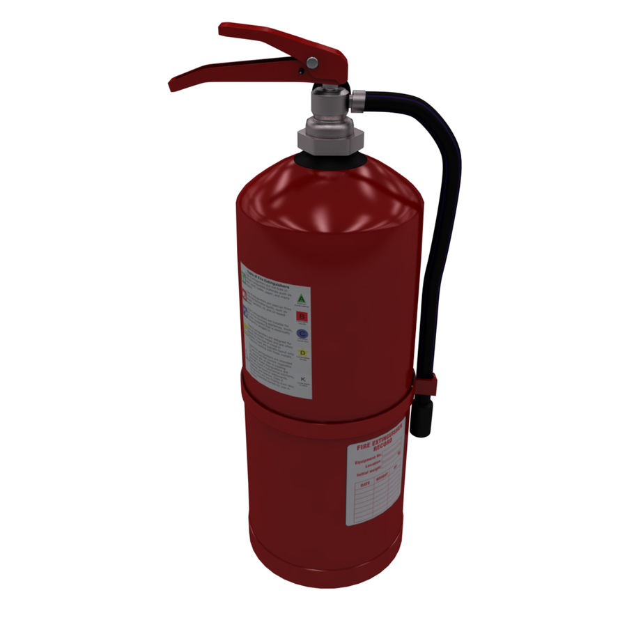 fire extinguisher royalty-free 3d model - Preview no. 3