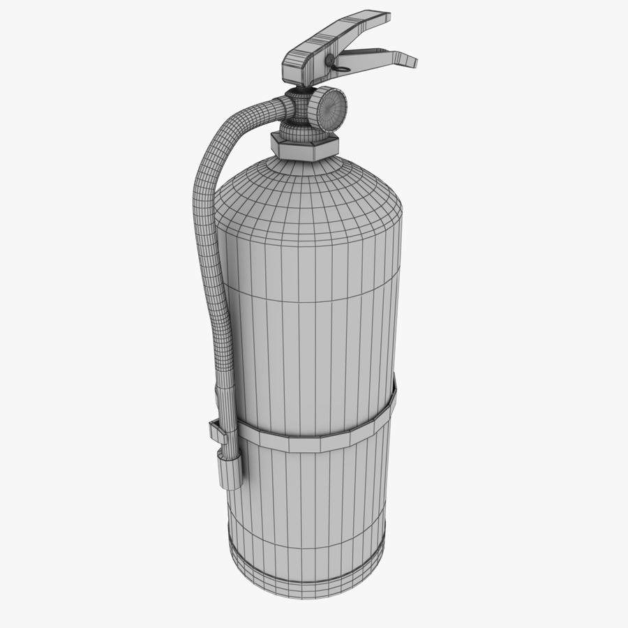 fire extinguisher royalty-free 3d model - Preview no. 10