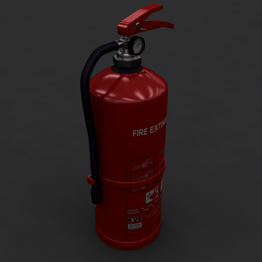 fire extinguisher royalty-free 3d model - Preview no. 1