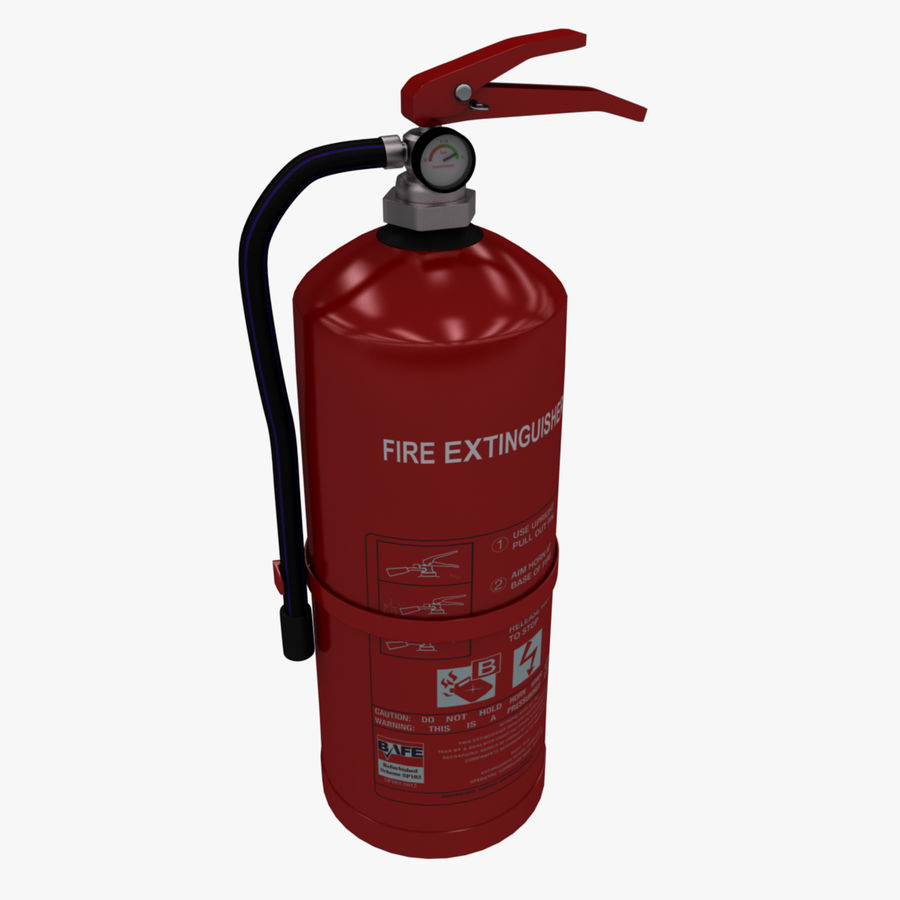 fire extinguisher royalty-free 3d model - Preview no. 13