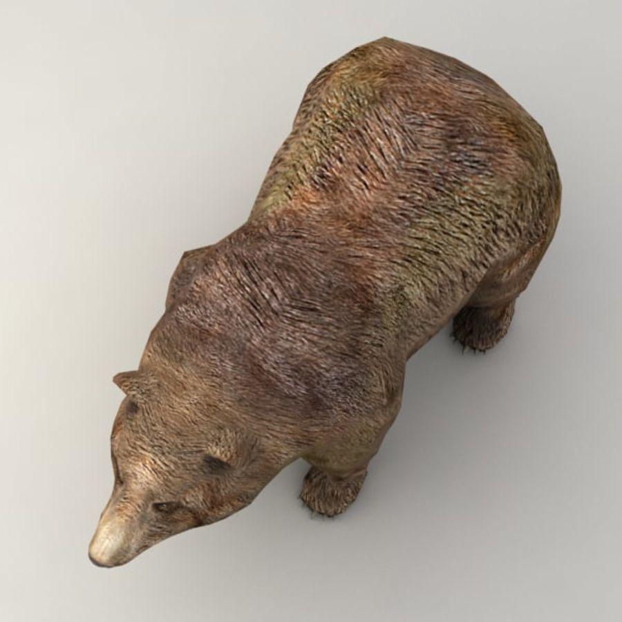 Animowany niski niedźwiedź grizzly royalty-free 3d model - Preview no. 5