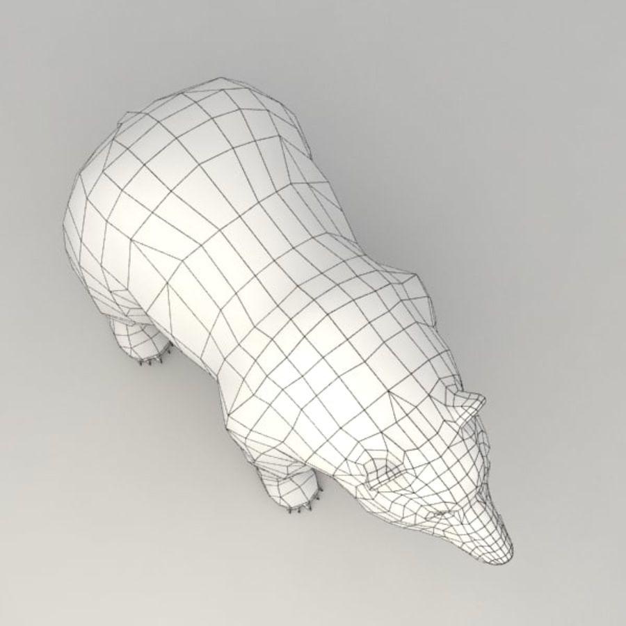 Animowany niski niedźwiedź grizzly royalty-free 3d model - Preview no. 9