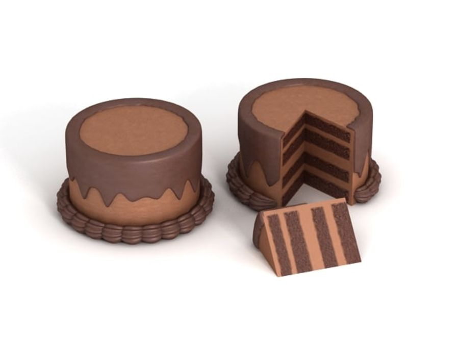 Cartoon Cake royalty-free 3d model - Preview no. 1