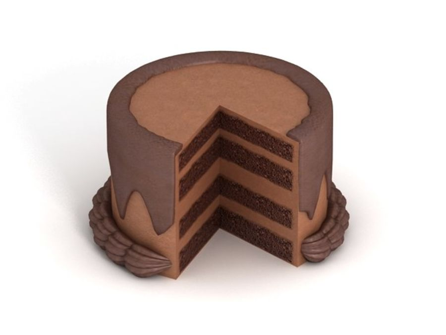 Cartoon Cake royalty-free 3d model - Preview no. 3