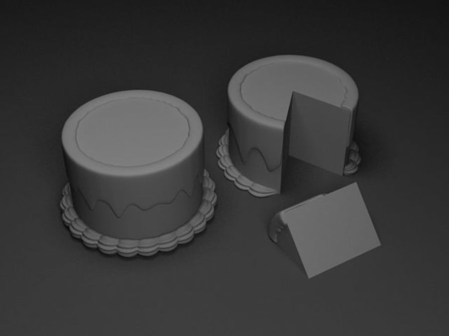 Cartoon Cake royalty-free 3d model - Preview no. 5
