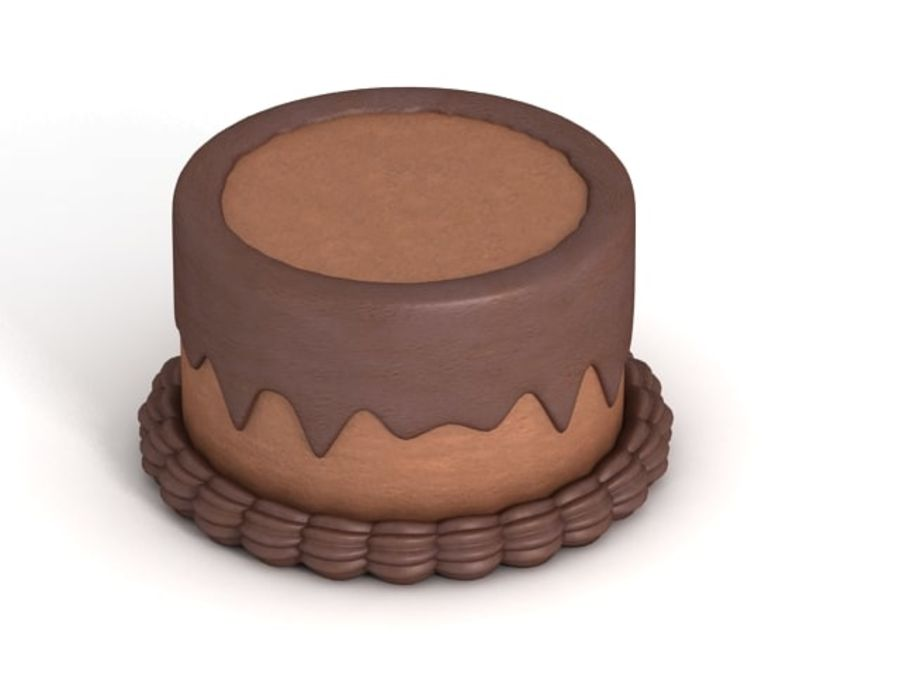 Cartoon Cake royalty-free 3d model - Preview no. 2