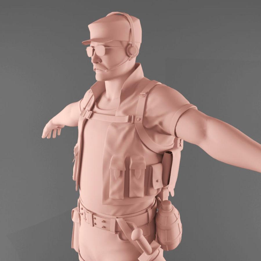 マンエンジニア royalty-free 3d model - Preview no. 3