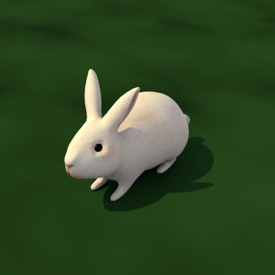Rabbit royalty-free 3d model - Preview no. 2