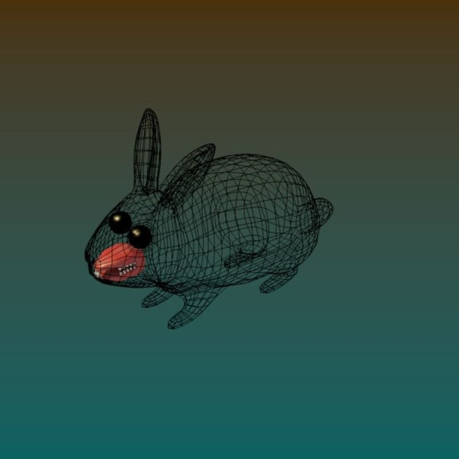 Rabbit royalty-free 3d model - Preview no. 5