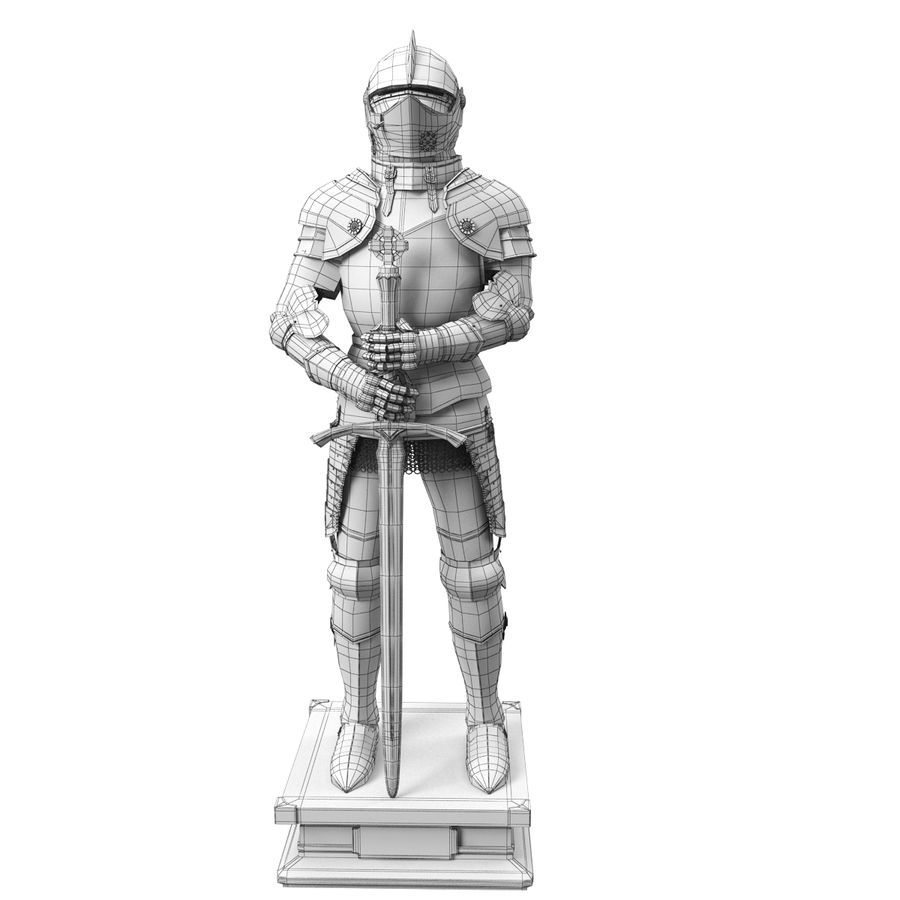 Knight Armor royalty-free 3d model - Preview no. 24