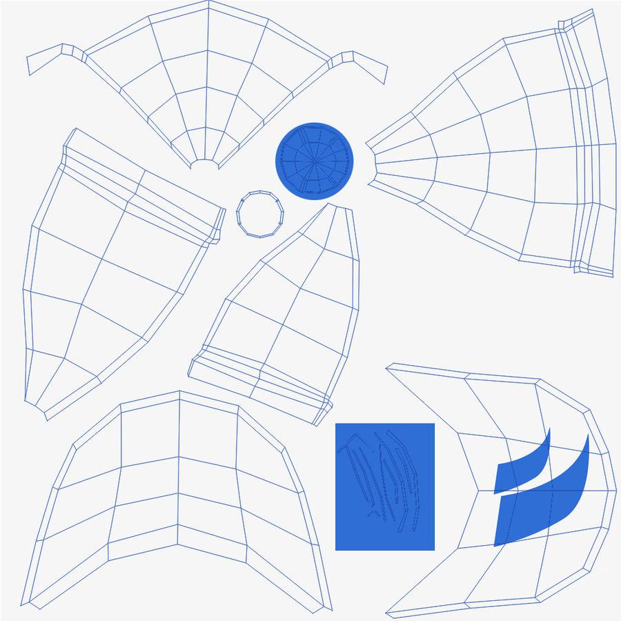 Casquette de sport royalty-free 3d model - Preview no. 9