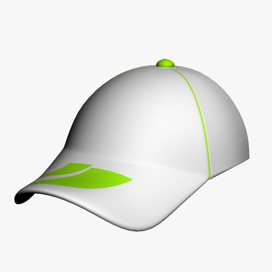 Casquette de sport royalty-free 3d model - Preview no. 6