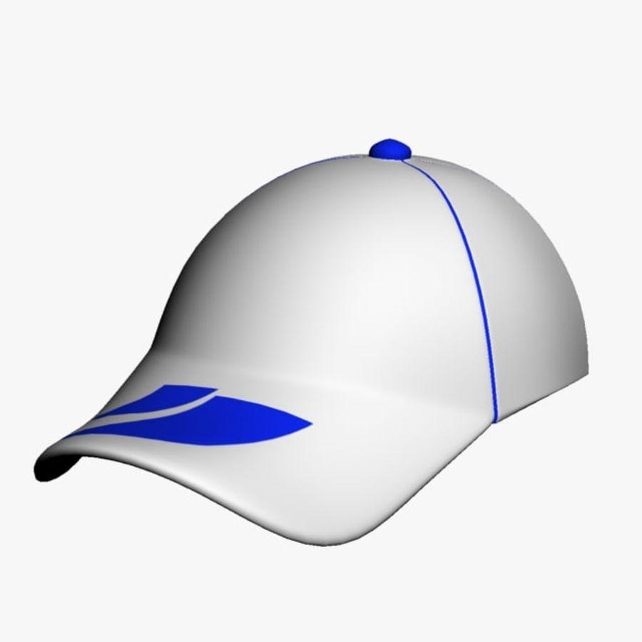 Casquette de sport royalty-free 3d model - Preview no. 7