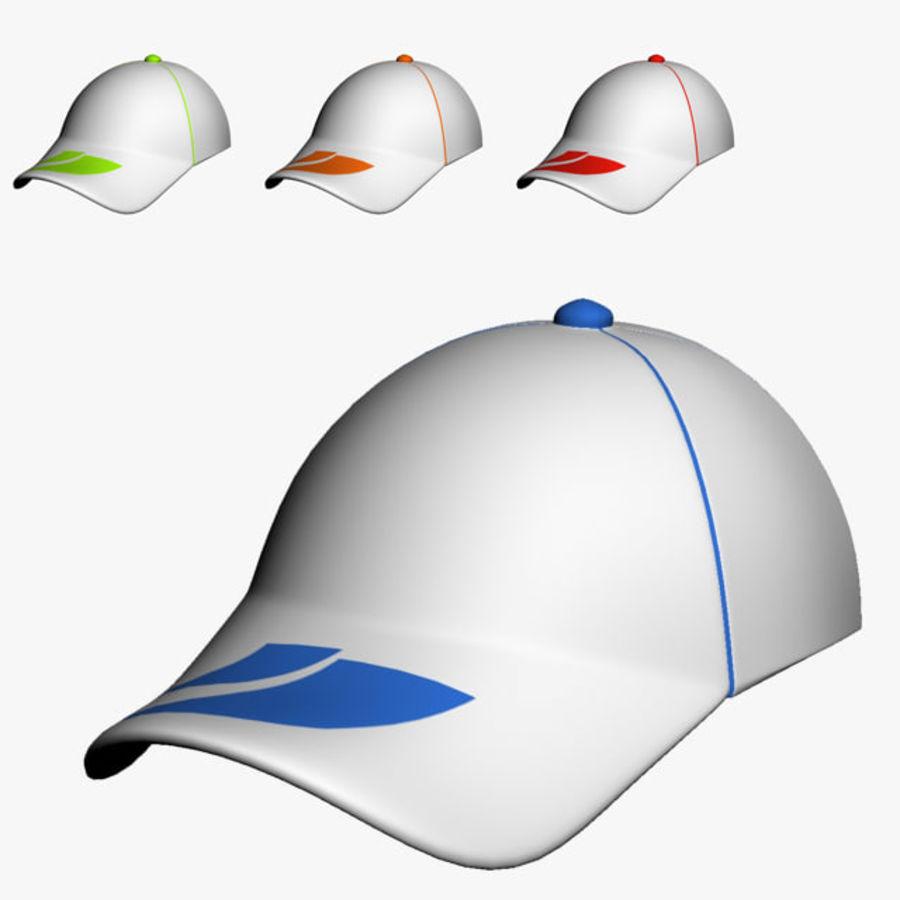 Casquette de sport royalty-free 3d model - Preview no. 1