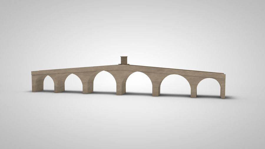 Old Stone Bridge royalty-free 3d model - Preview no. 3