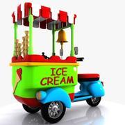 만화 Icecream 자전거 3d model
