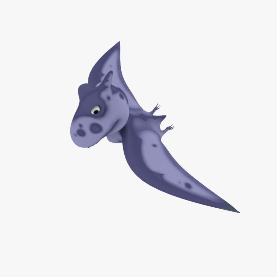 Cartoon dinosaur Pterodactylus royalty-free 3d model - Preview no. 1