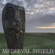 Средневековый Щит 3d model