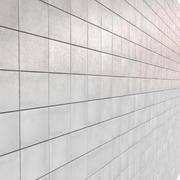 Rengör Grå Vit Ljus Keramikplattor Tileable industri 3d model