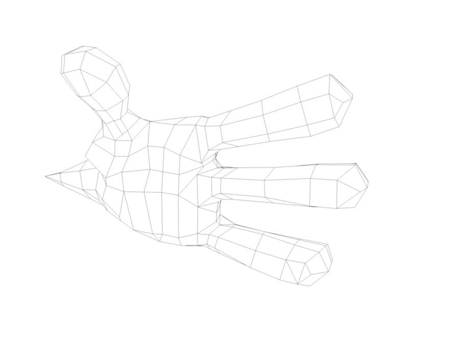 Cartoon hand royalty-free 3d model - Preview no. 4