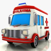 Cartoon Ambulance 3d model