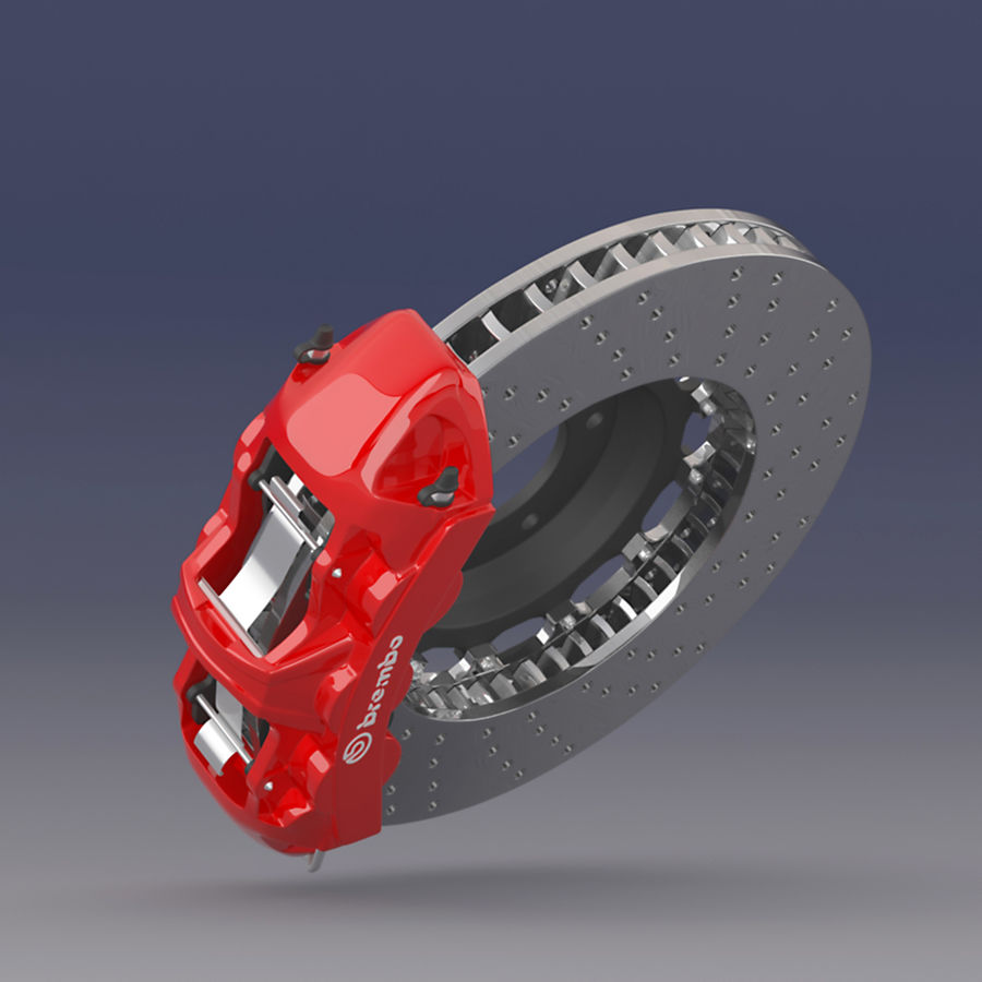 Brembo Brake System royalty-free 3d model - Preview no. 4
