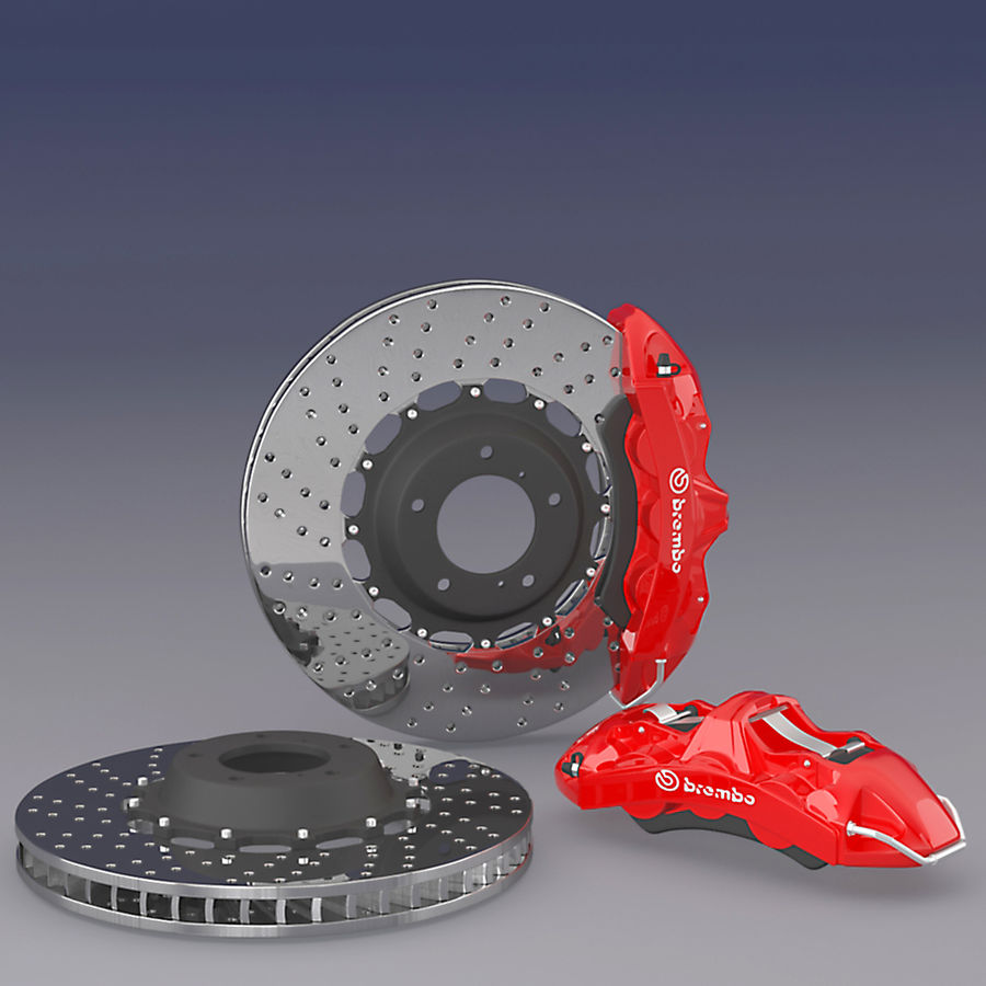 Brembo Brake System royalty-free 3d model - Preview no. 1