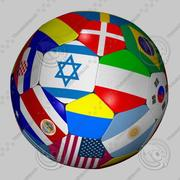 Soccer Ball Flag_02 3d model