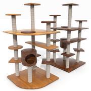 Wooden Cat Tree Construction 3d model