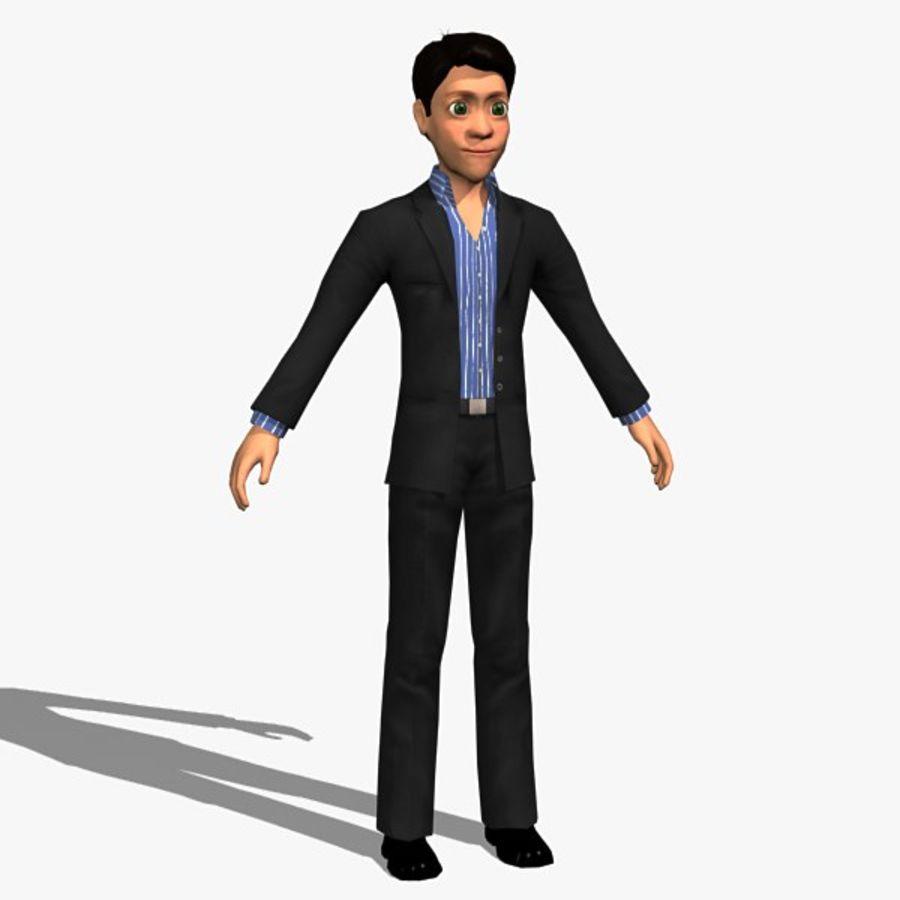 Tecken Man 02 royalty-free 3d model - Preview no. 2