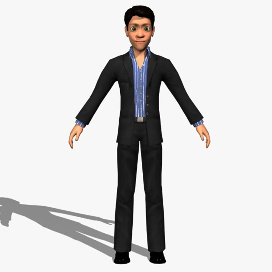 Tecken Man 02 royalty-free 3d model - Preview no. 6