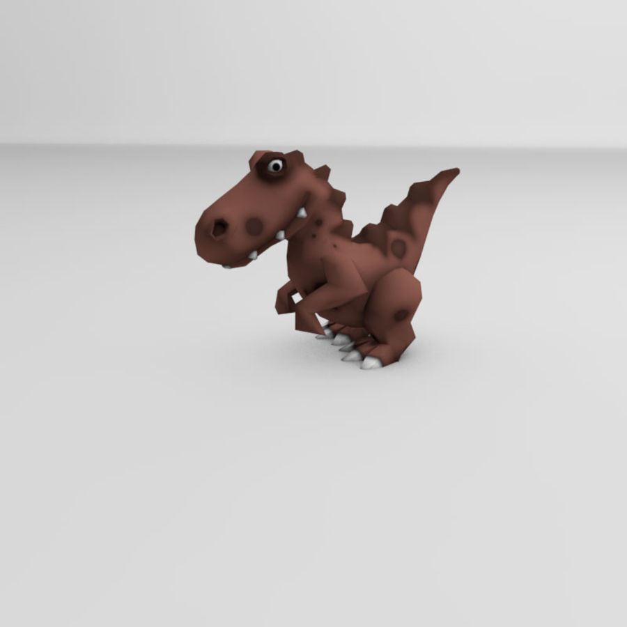 Cartoon dinosaur Velociraptor royalty-free 3d model - Preview no. 2