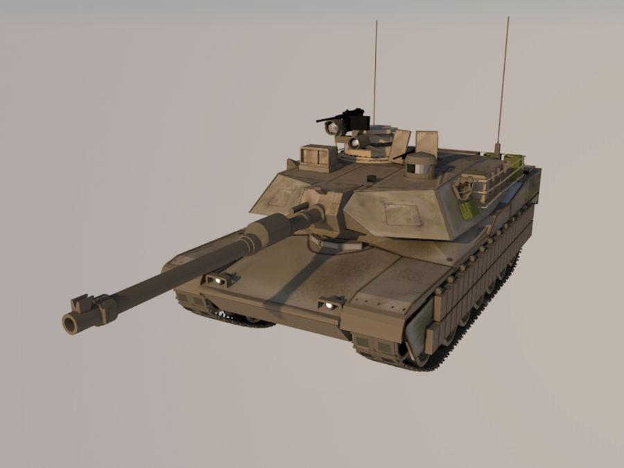 M1A2 Abrams tank royalty-free 3d model - Preview no. 10