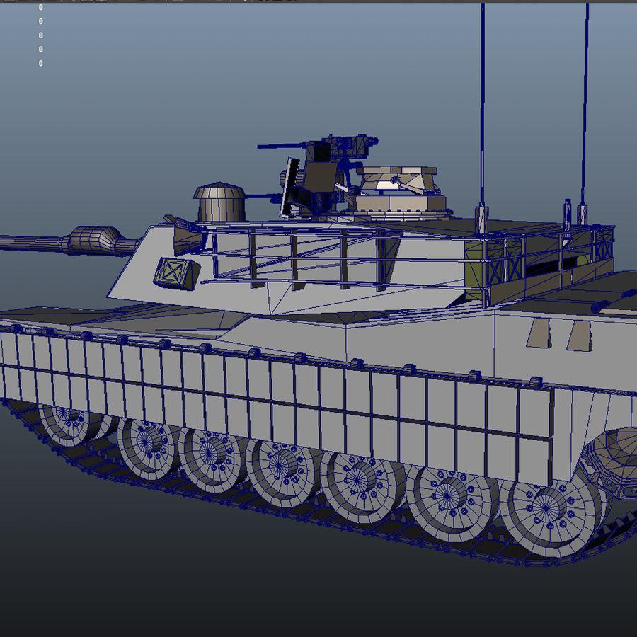 M1A2 Abrams tank royalty-free 3d model - Preview no. 8