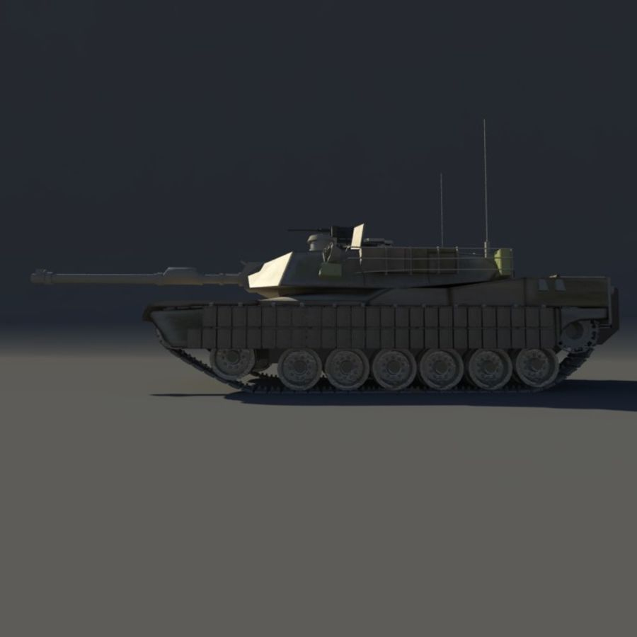 M1A2 Abrams tank royalty-free 3d model - Preview no. 5
