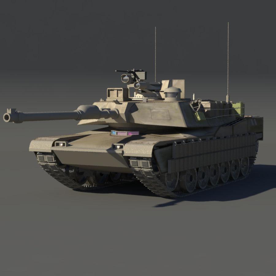 M1A2 Abrams tank royalty-free 3d model - Preview no. 2