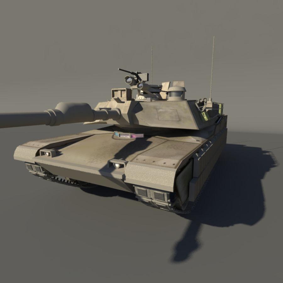 M1A2 Abrams tank royalty-free 3d model - Preview no. 4
