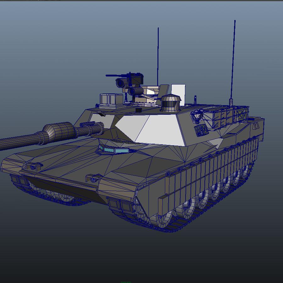 M1A2 Abrams tank royalty-free 3d model - Preview no. 7