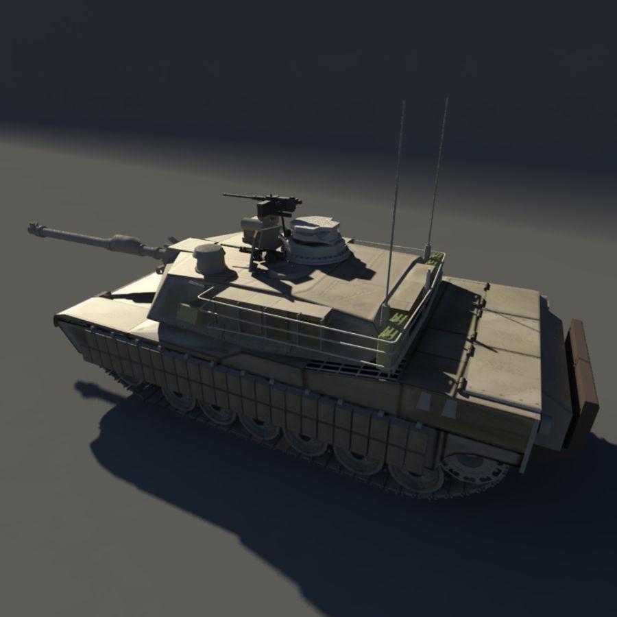 M1A2 Abrams tank royalty-free 3d model - Preview no. 6