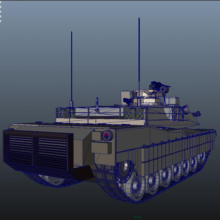 M1A2 Abrams tank royalty-free 3d model - Preview no. 9
