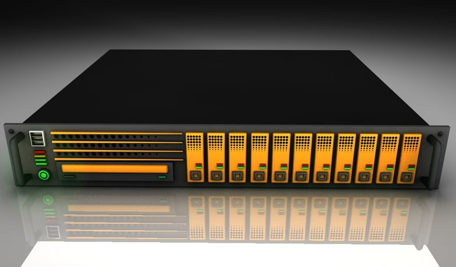 CPU Rack 3 royalty-free 3d model - Preview no. 3