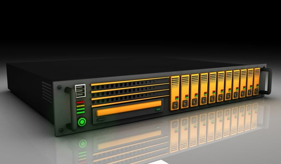 CPU Rack 3 royalty-free 3d model - Preview no. 1