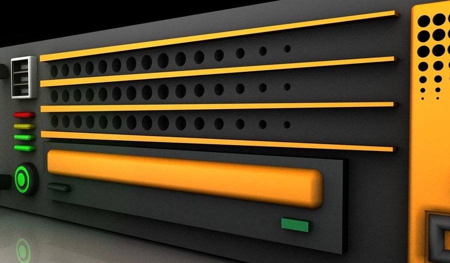 CPU Rack 3 royalty-free 3d model - Preview no. 6