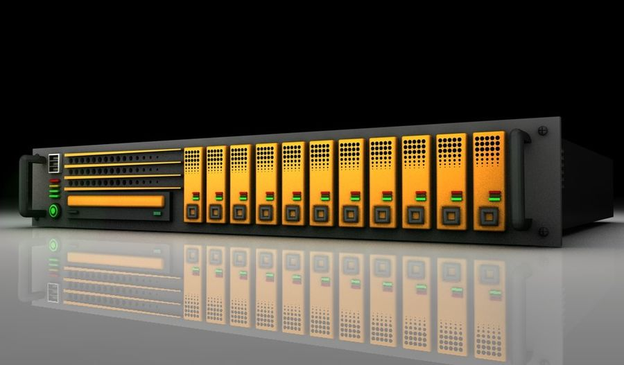 CPU Rack 3 royalty-free 3d model - Preview no. 2