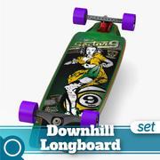 Tiffany Complete Longboard 3d model