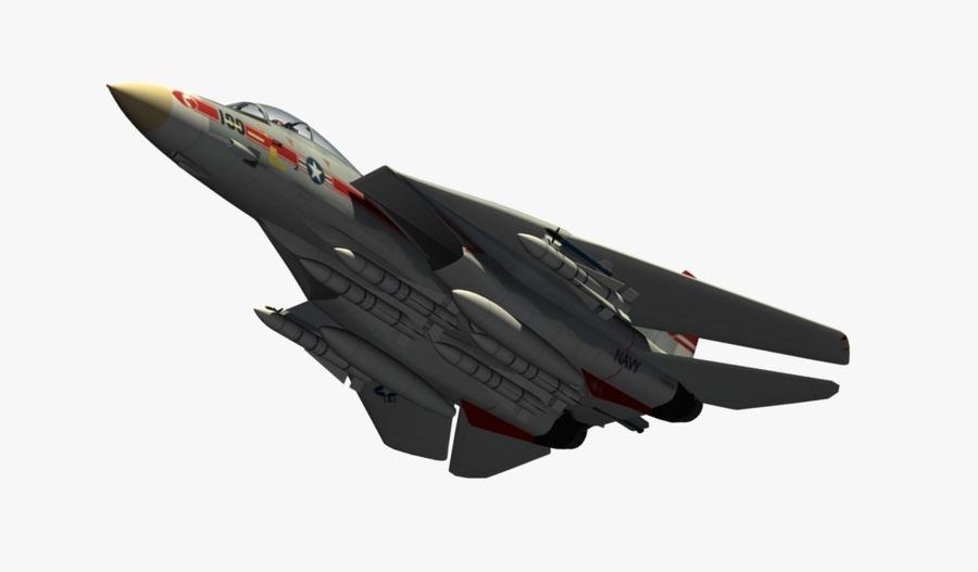 F-14A Tomcat Wolfpack royalty-free 3d model - Preview no. 14