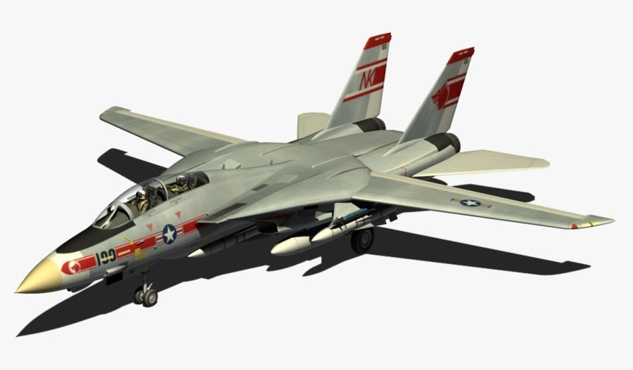 F-14A Tomcat Wolfpack royalty-free 3d model - Preview no. 2
