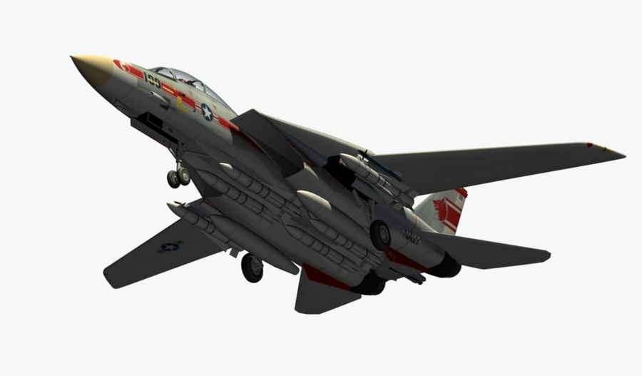 F-14A Tomcat Wolfpack royalty-free 3d model - Preview no. 12