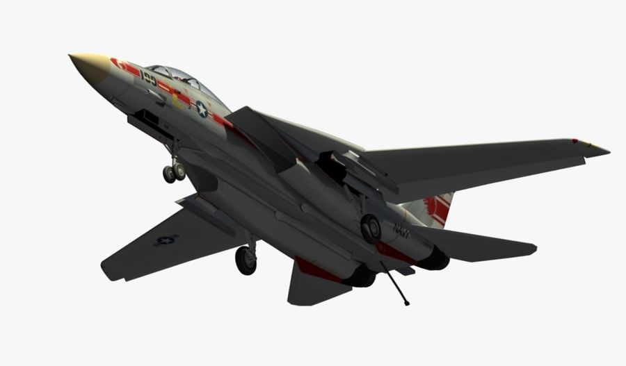F-14A Tomcat Wolfpack royalty-free 3d model - Preview no. 13