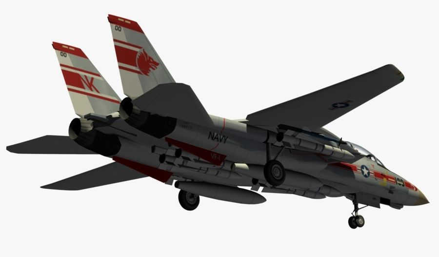 F-14A Tomcat Wolfpack royalty-free 3d model - Preview no. 9